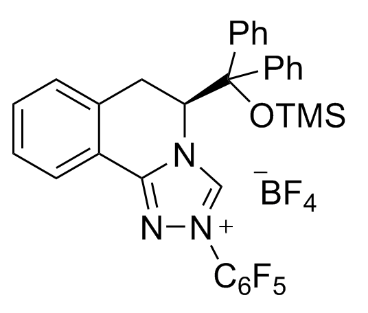 (S)-5-[Diphenyl[(trimethylsilyl)oxy]methyl]-5,6-dihydro-2-(2,3,4,5,6-pentafluorophenyl)-1,2,4-triazolo[3,4-a]isoquinolin-2-ium Tetrafluoroborate